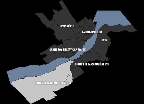 carte du quartier Chutes-de-la-Chaudière-Ouest