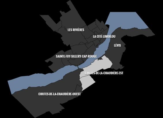 carte du quartier Chutes-de-la-Chaudière-Est
