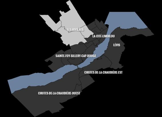 carte du quartier Les Rivières