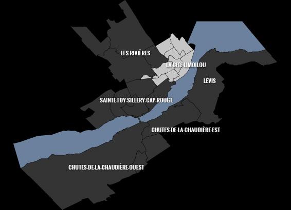 carte du quartier La Cité-Limoilou
