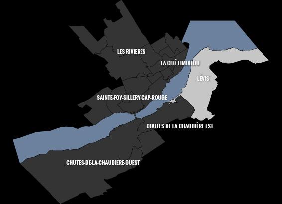 carte du quartier Lévis